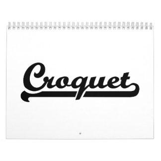 Croquet Calendario De Pared