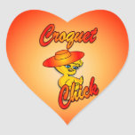 Croquet Chick #5 Heart Sticker