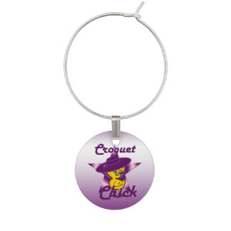 Croquet Chick #9 Wine Charm