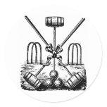 Croquet Classic Round Sticker