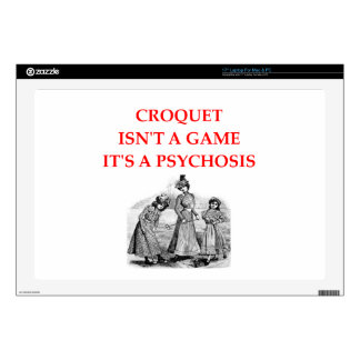 CROQUET DECAL FOR LAPTOP