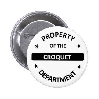 Croquet Department 2 Inch Round Button