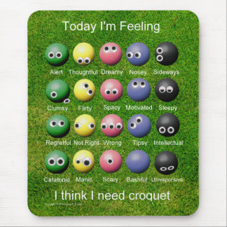Croquet Emotions Mouse Pad