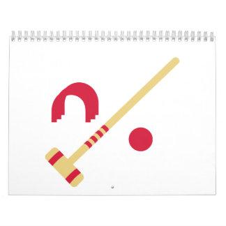 Croquet equipment wall calendar