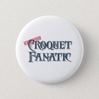 Croquet Fanatic Button