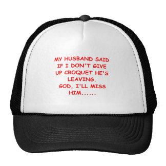 CROQUET gifts abd t-shirts Trucker Hat