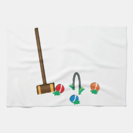 Croquet Hand Towel