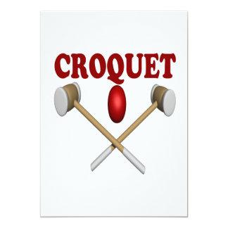 """Croquet Invitación 5"""" X 7"""""""
