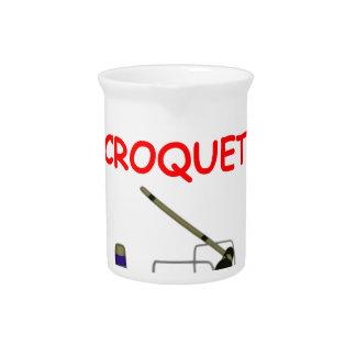 croquet jarra para bebida