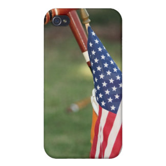 Croquet Mallet and American Flag iPhone 4 Cover