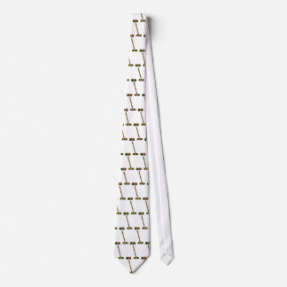 Croquet Mallet and Balls Neck Tie