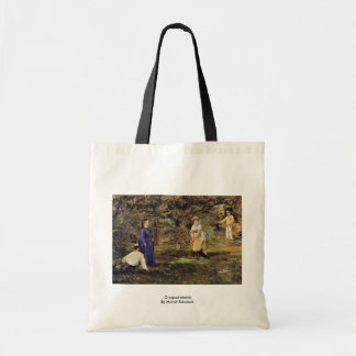 Croquet Match By Manet Edouard Budget Tote Bag