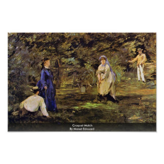 Croquet Match By Manet Edouard Posters