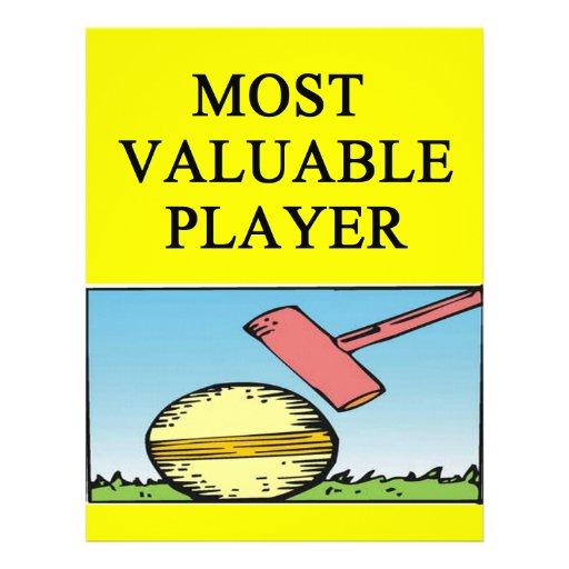 CROQUET most valuable player Letterhead Design