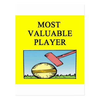 CROQUET most valuable player Postcard