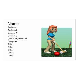 Croquet para mujer tarjetas de negocios