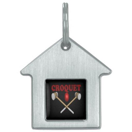 Croquet Pet Tags