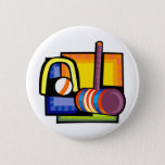 Croquet Pinback Button