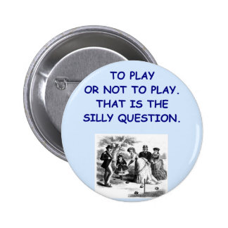 croquet pinback button