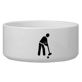 Croquet player pet water bowls