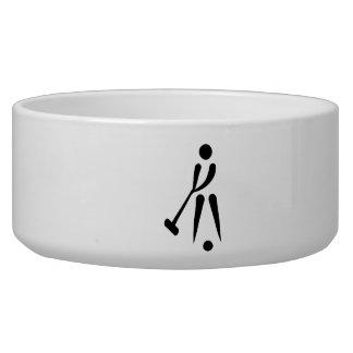 Croquet player symbol dog water bowl