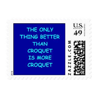 croquet postage