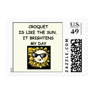 croquet postage stamp