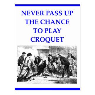 croquet postcard