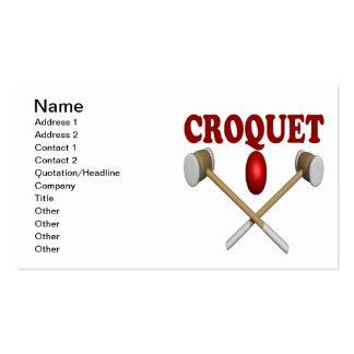 Croquet Plantilla De Tarjeta De Negocio