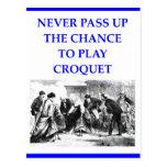 croquet tarjetas postales