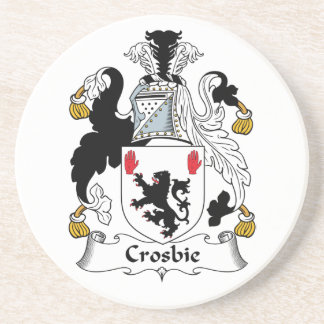 Crosbie Family Crest Beverage Coasters