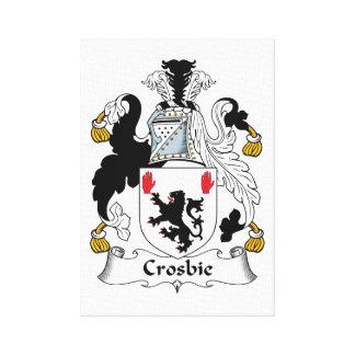 Crosbie Family Crest Canvas Print