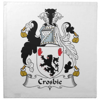 Crosbie Family Crest Cloth Napkins