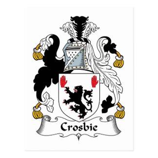 Crosbie Family Crest Postcard