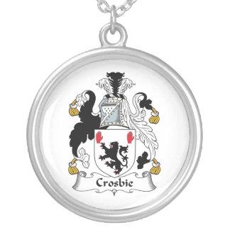 Crosbie Family Crest Round Pendant Necklace