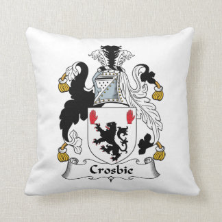 Crosbie Family Crest Throw Pillows