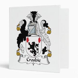 Crosbie Family Crest Vinyl Binders