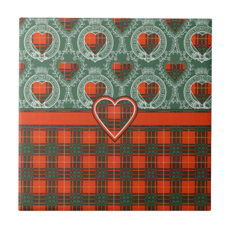 Crosby clan Plaid Scottish tartan Tile