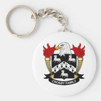 Crosby Family Crest Basic Round Button Keychain