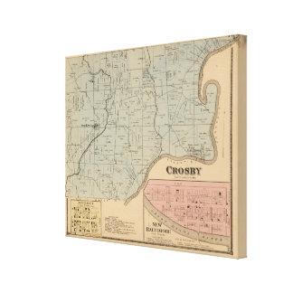 Crosby, Ohio Lienzo Envuelto Para Galerías