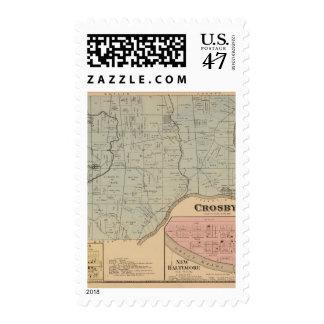 Crosby, Ohio Timbre Postal