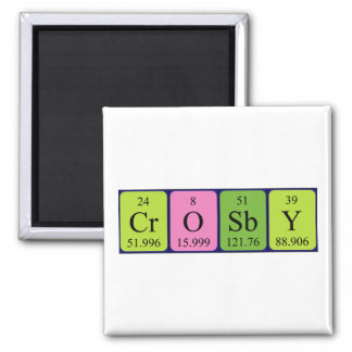 Crosby periodic table name magnet fridge magnet