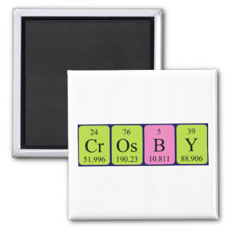 Crosby periodic table name magnet fridge magnets