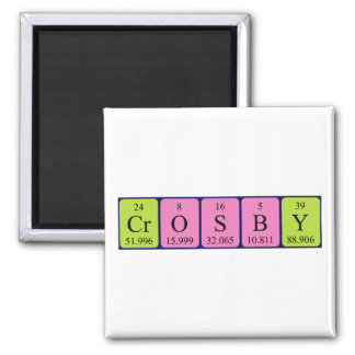Crosby periodic table name magnet magnets