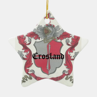 Crosland Coat of Arms Star Ornament