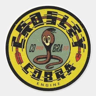 Crosley Cobra Engine distressed vintage sign repro Classic Round Sticker