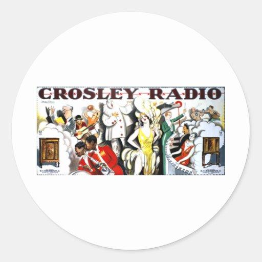 Crosley Radio Classic Round Sticker