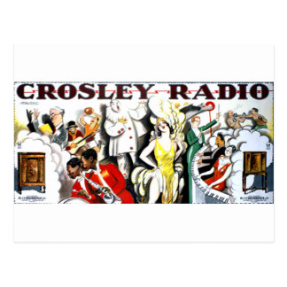 Crosley Radio Postcard