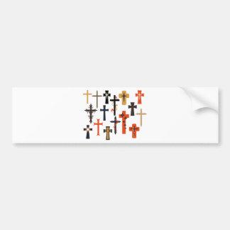 Cross1 Pegatina De Parachoque