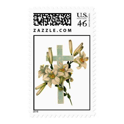 Cross3(Vintage Art) Postage Stamp